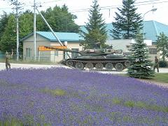 戦車とラベンダー