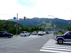 新空知橋での渋滞