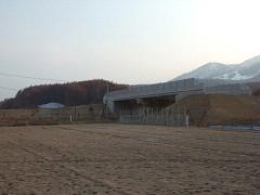 富良野道路の建設現場