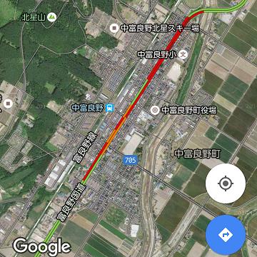 2016年7月15日中富良野交通状況