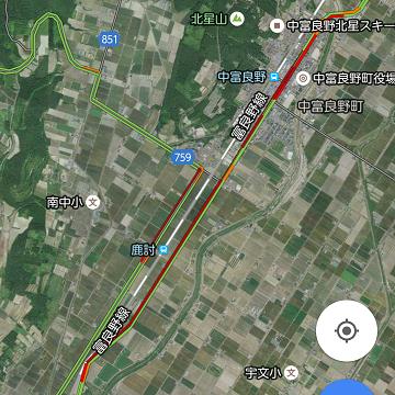 2016年7月16日中富良野交通状況
