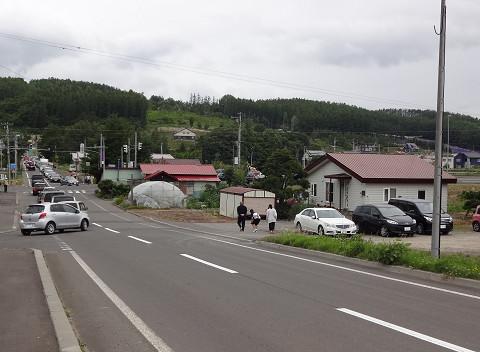 国道上14号交差点(2016年7月17日)